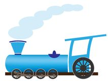 Locomotiva del fumetto Immagine Stock Libera da Diritti