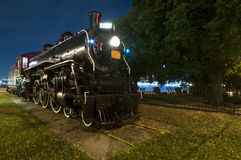 Locomotiva del treno del motore a vapore Fotografie Stock