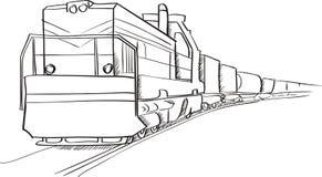 Locomotiva del treno merci Fotografia Stock Libera da Diritti