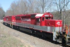 Locomotiva 3478 della ferrovia di RJ Corman Immagini Stock