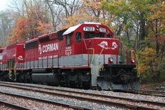Locomotiva 7123 della ferrovia di RJ Corman immagine stock libera da diritti