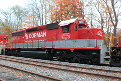 Locomotiva 7081 della ferrovia di RJ Corman fotografia stock libera da diritti