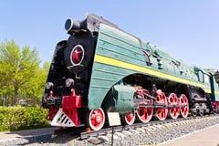 Locomotiva della strada di ferrovia Immagini Stock Libere da Diritti