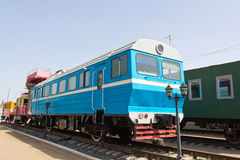 Locomotiva della strada di ferrovia Fotografie Stock Libere da Diritti