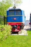 Locomotiva della strada di ferrovia Fotografia Stock