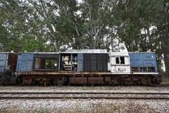 Locomotiva destruída Fotografia de Stock Royalty Free