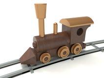 Locomotiva detalhada de madeira ilustração stock