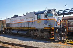 Locomotiva di diesel della ferrovia di Lackawanna, Scranton, PA, U.S.A. fotografia stock