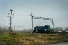 Locomotiva di guida Fotografia Stock
