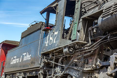 Locomotiva di Toltec & di Cumbres Fotografie Stock