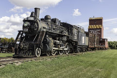 Locomotiva di vapore antica Fotografia Stock