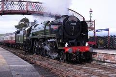 Locomotiva di vapore Britannia a Kirkby Stephen immagini stock libere da diritti