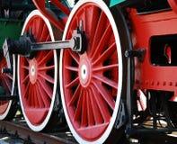 Locomotiva di vapore dell'annata Immagini Stock