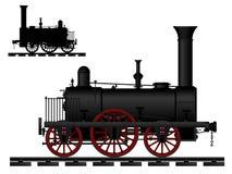 Locomotiva di vapore dell'annata royalty illustrazione gratis