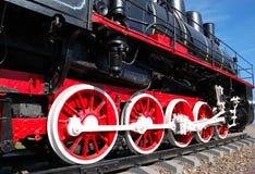 Locomotiva di vapore dell'annata Immagine Stock