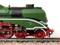 Locomotiva di vapore (metà fronta) fotografia stock libera da diritti