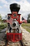 Locomotiva di vapore miniatura dell'annata Fotografia Stock Libera da Diritti