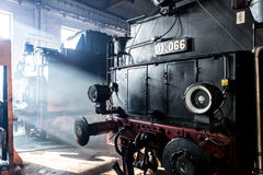Locomotiva di vapore vecchia Immagine Stock Libera da Diritti
