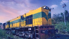Locomotiva diesel imagens de stock