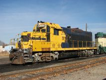 Locomotiva diesel arrugginita Immagini Stock Libere da Diritti