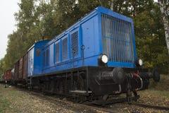 Locomotiva diesel blu Fotografia Stock Libera da Diritti