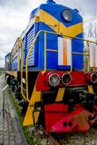 Locomotiva diesel do trem velho Imagem de Stock