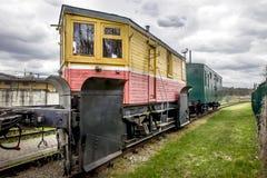 Locomotiva diesel do trem velho Fotos de Stock Royalty Free