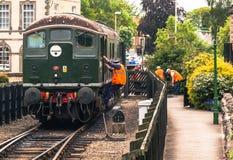 Locomotiva diesel em Pickering fotografia de stock