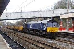 Locomotiva diesel Lancaster da classe 66 em libré do afastamento cilindro/rolo Imagens de Stock