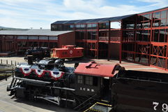 Locomotiva diesel no local histórico nacional de Steamtown em Scranton, Pensilvânia Fotografia de Stock Royalty Free