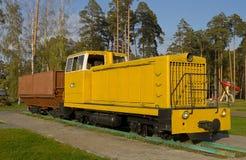 Locomotiva diesel sovietica TU7A Fotografie Stock