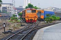 Locomotiva do motor de diesel Imagens de Stock