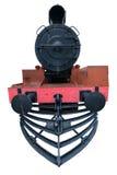 Locomotiva do trem do vapor isolada no fundo branco Imagem de Stock Royalty Free