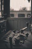 Locomotiva do vintage isolada Fotografia de Stock Royalty Free