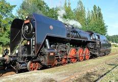 Locomotiva e estradas de ferro velhas de vapor Foto de Stock