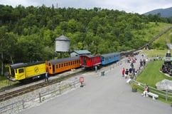 Locomotiva e trasporto al Mt Washington, NH -3 Fotografia Stock Libera da Diritti