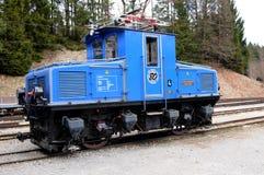 Locomotiva elettrica - ferrovia bavarese di Zugspitze Fotografie Stock Libere da Diritti