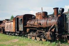 A locomotiva está esperando reparos Foto de Stock