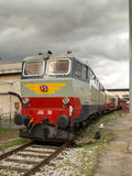 Locomotiva FS E.656 Fotografia Stock Libera da Diritti