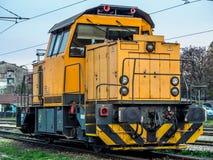 Locomotiva gialla Fotografia Stock Libera da Diritti