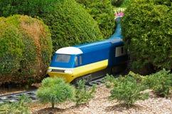 Locomotiva modelo do trem Imagens de Stock Royalty Free