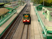 Locomotiva movente Fotografia de Stock