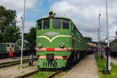 Locomotiva nel museo ferroviario a Riga Fotografie Stock Libere da Diritti