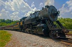 Locomotiva nessuna 734 aspettano per partire Frostburg Immagine Stock Libera da Diritti