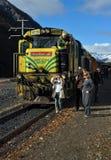 Locomotiva Nuova Zelanda di TranzAlpine DXC 5264 Fotografie Stock