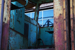 Locomotiva oxidada velha Fotos de Stock Royalty Free
