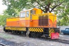 Locomotiva para a trilha do railrode do reparo Imagem de Stock