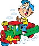 Locomotiva pequena do coordenador Fotos de Stock