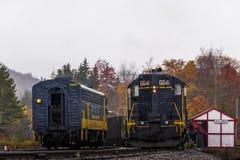 Locomotiva restaurada da estrada de ferro de Baltimore e de Ohio - West Virginia foto de stock