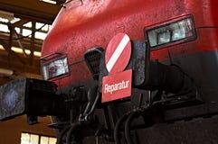 Locomotiva rossa Fotografia Stock Libera da Diritti